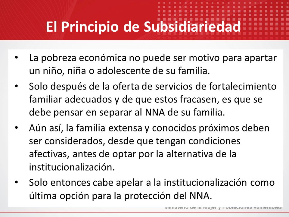 El Principio de Subsidiariedad