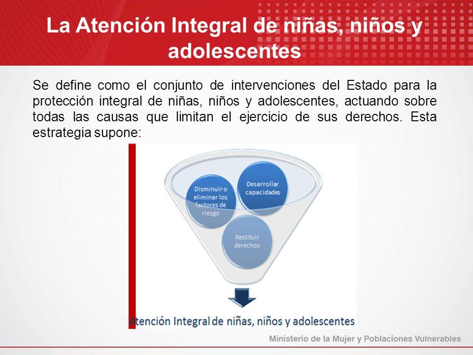 La Atención Integral de niñas, niños y adolescentes