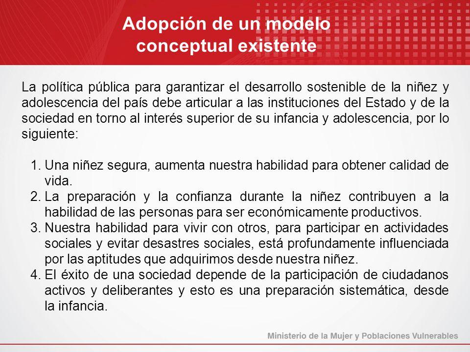 Adopción de un modelo conceptual existente