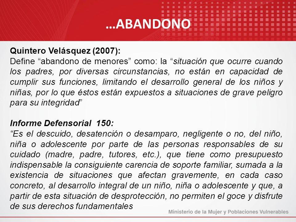 …ABANDONO Quintero Velásquez (2007):