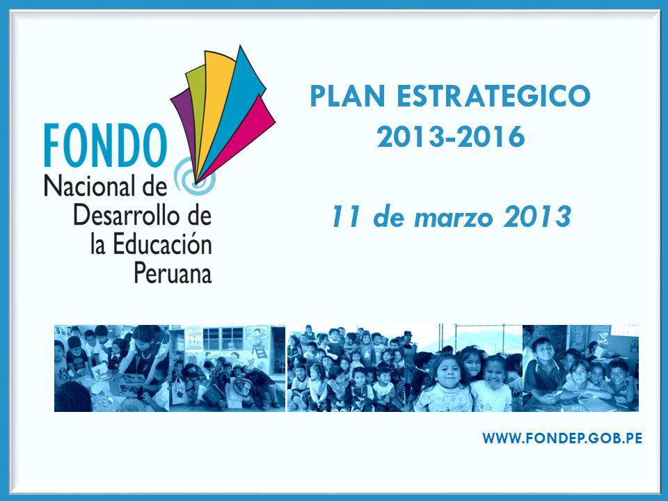 PLAN ESTRATEGICO 2013-2016 11 de marzo 2013