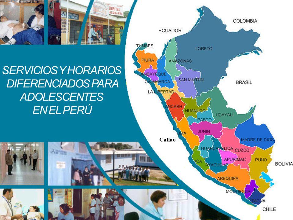 SERVICIOS Y HORARIOS DIFERENCIADOS PARA ADOLESCENTES EN EL PERÚ Callao