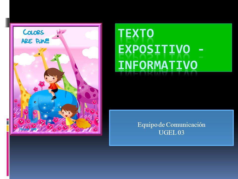 Texto expositivo - informativo