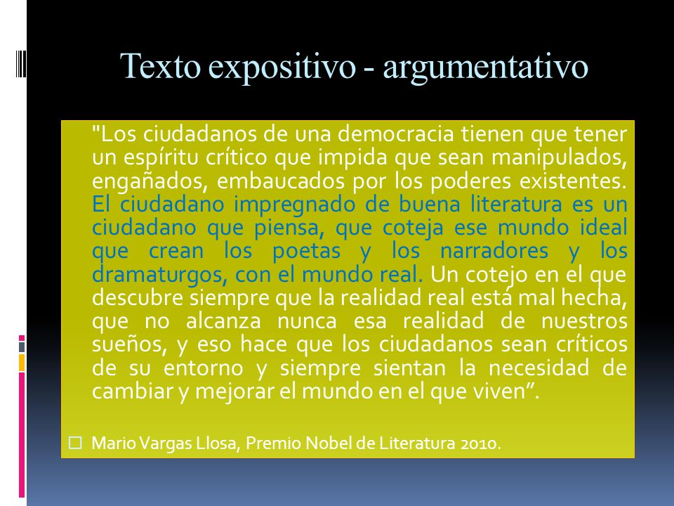 Texto expositivo - argumentativo