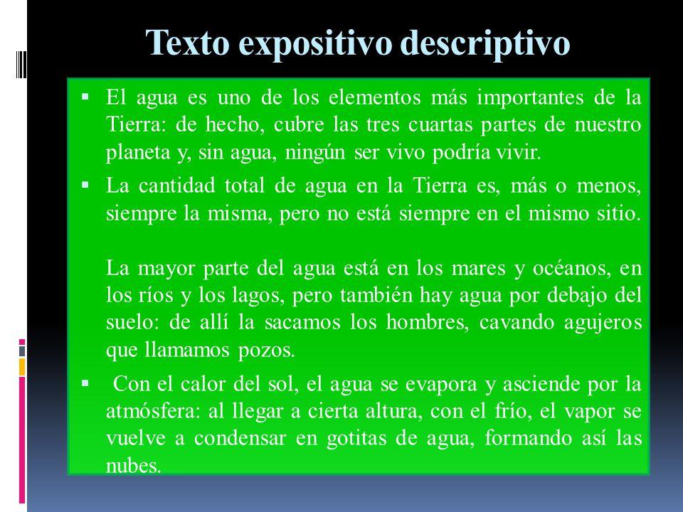 Texto expositivo descriptivo
