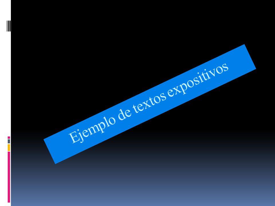 Ejemplo de textos expositivos