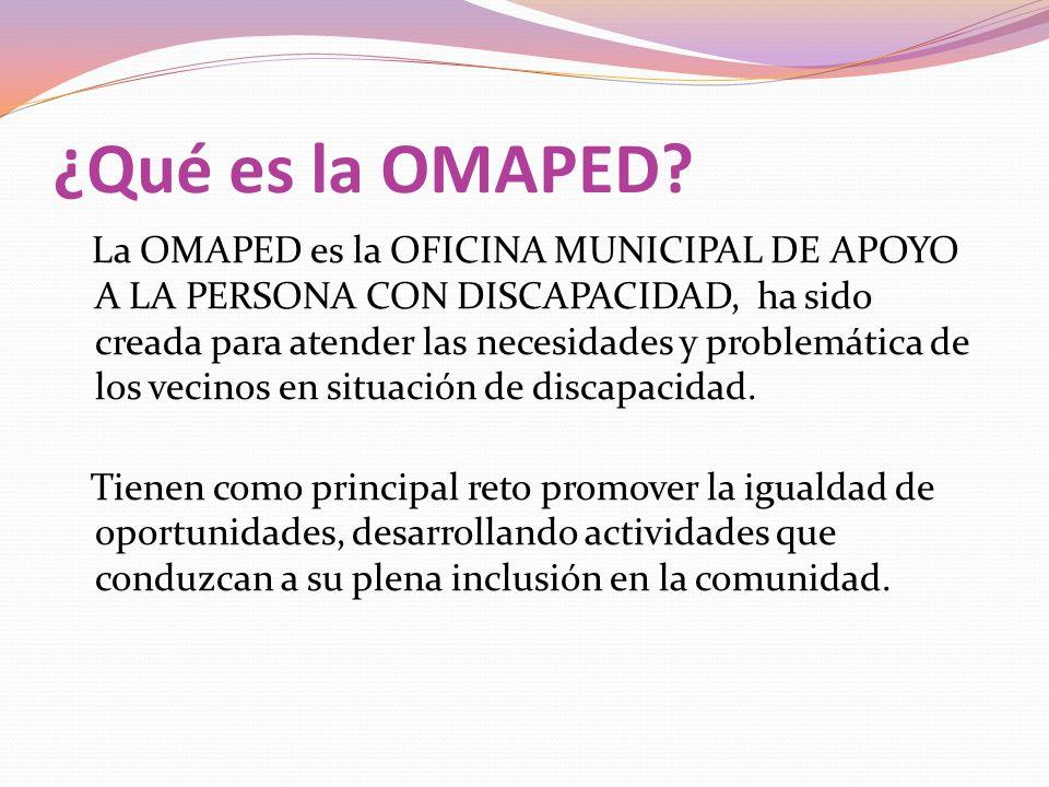 ¿Qué es la OMAPED