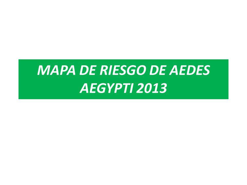 MAPA DE RIESGO ENTOMOLÓGICO DEL Aedes aegypti POR DISTRITOS DISA II LIMA SUR