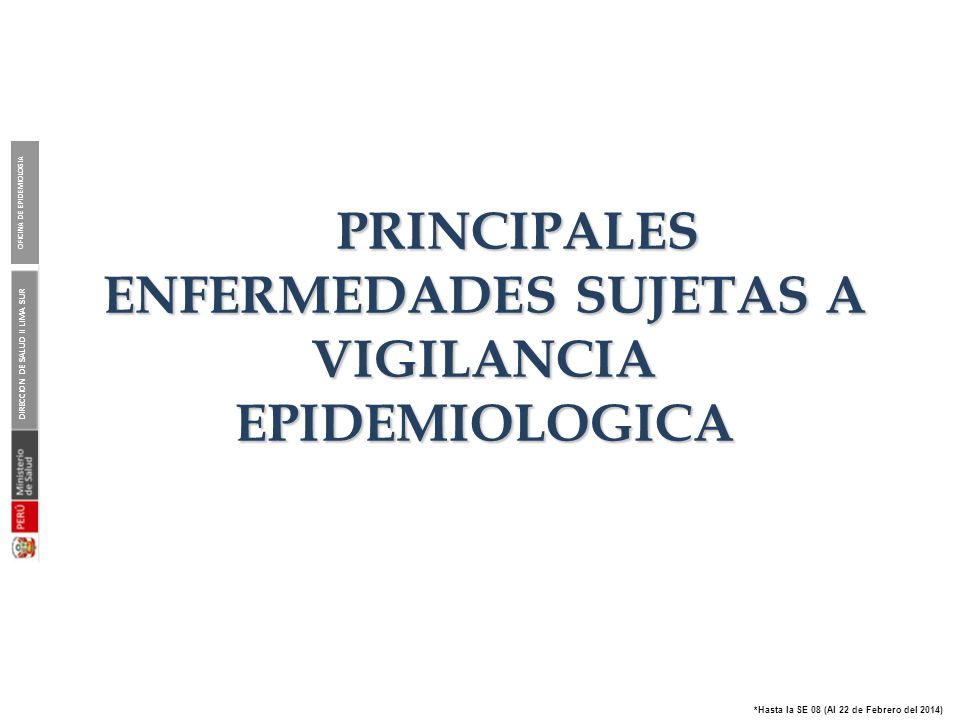 Organigrama de la Red de Vigilancia Epidemiológica , DISA II Lima Sur - 2014