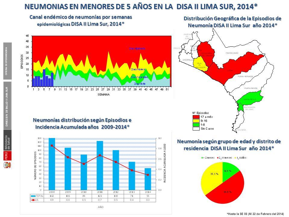 Pareto de las atenciones en IRAs según Micro red notificante DISA II Lima Sur, 2014