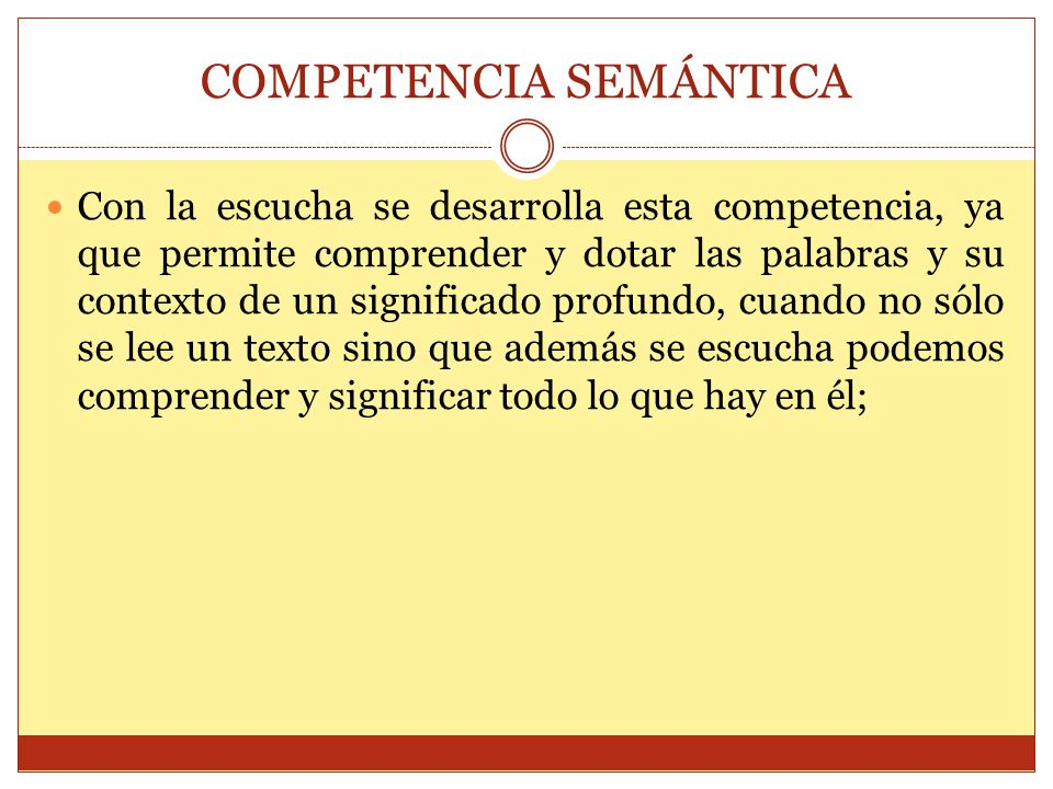 COMPETENCIA SEMÁNTICA