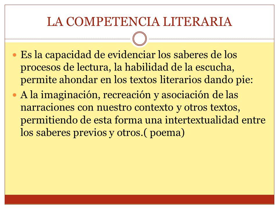 LA COMPETENCIA LITERARIA