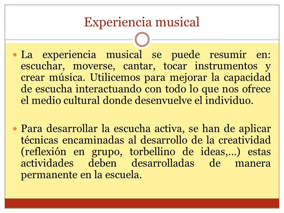 Experiencia musical