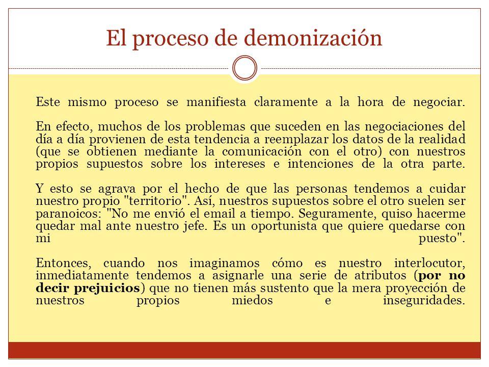 El proceso de demonización