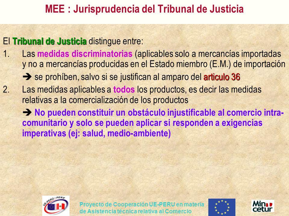 MEE : Jurisprudencia del Tribunal de Justicia