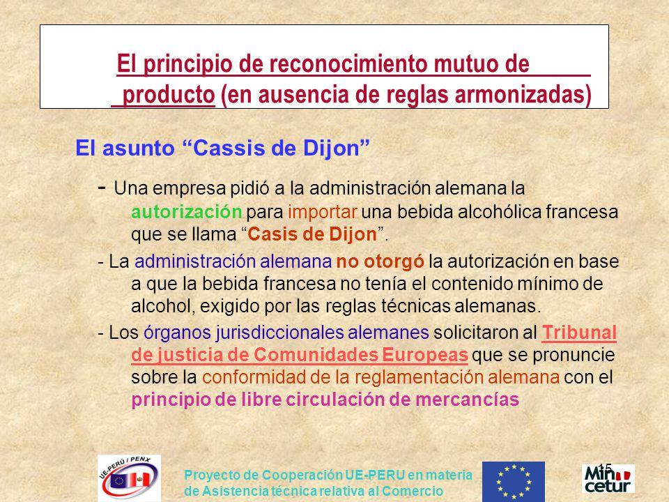 El asunto Cassis de Dijon