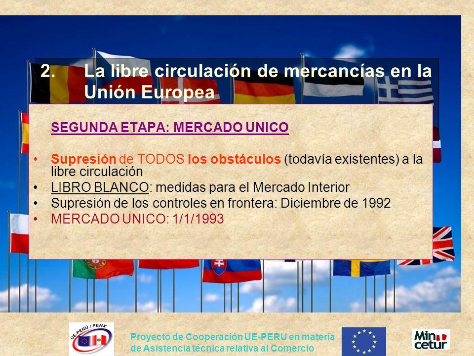 2. La libre circulación de mercancías en la Unión Europea
