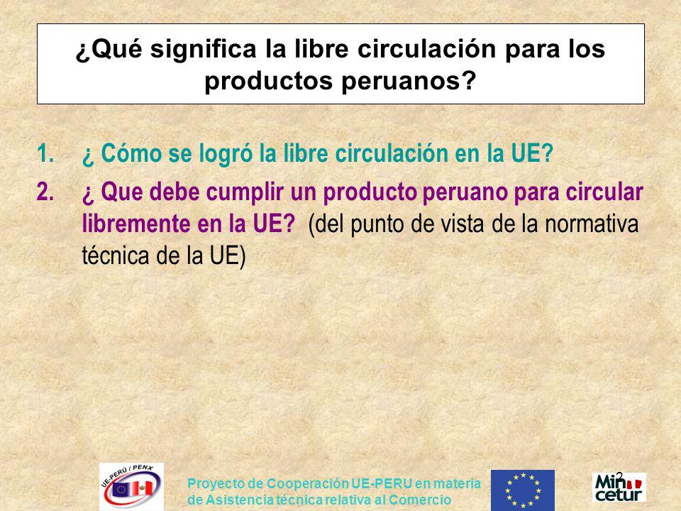 ¿Qué significa la libre circulación para los productos peruanos