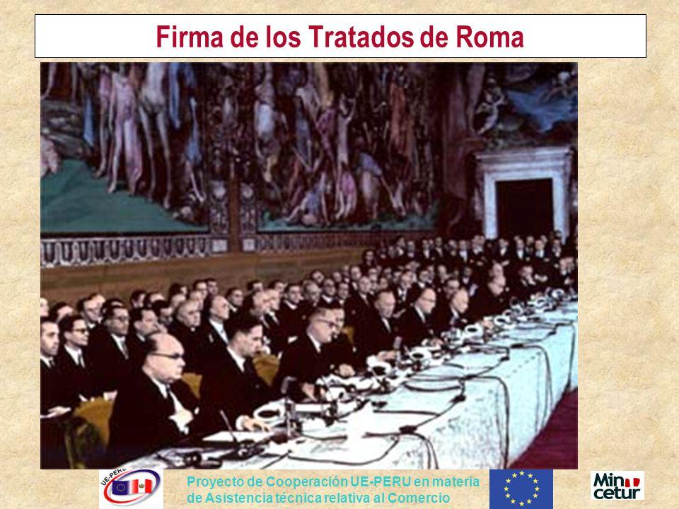 Firma de los Tratados de Roma