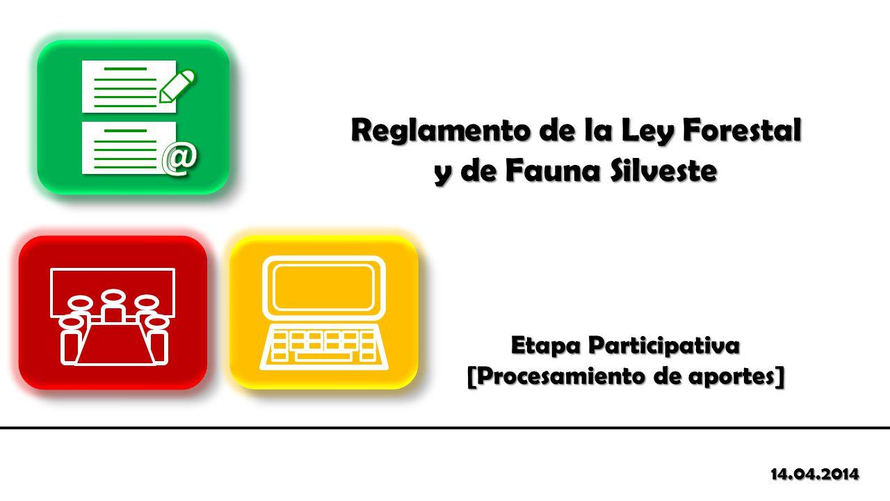 @ Reglamento de la Ley Forestal y de Fauna Silveste