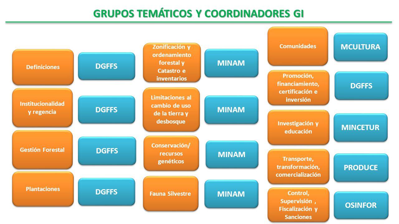 GRUPOS TEMÁTICOS Y COORDINADORES GI