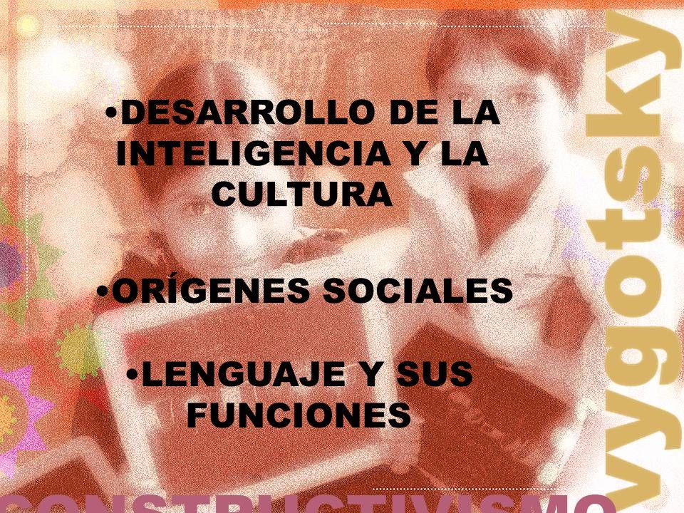 DESARROLLO DE LA INTELIGENCIA Y LA CULTURA