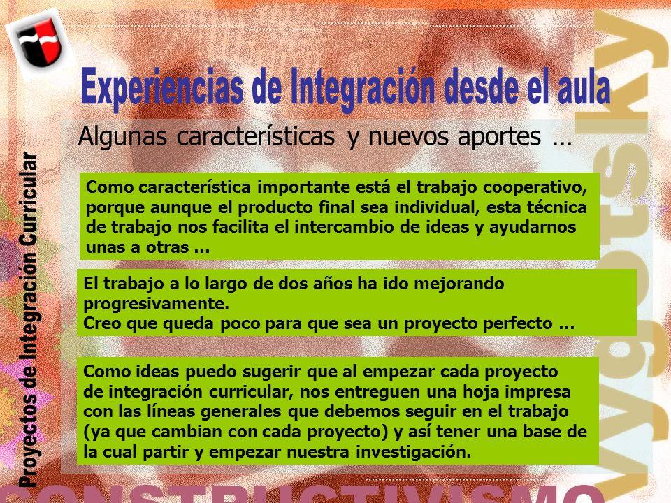 Experiencias de Integración desde el aula