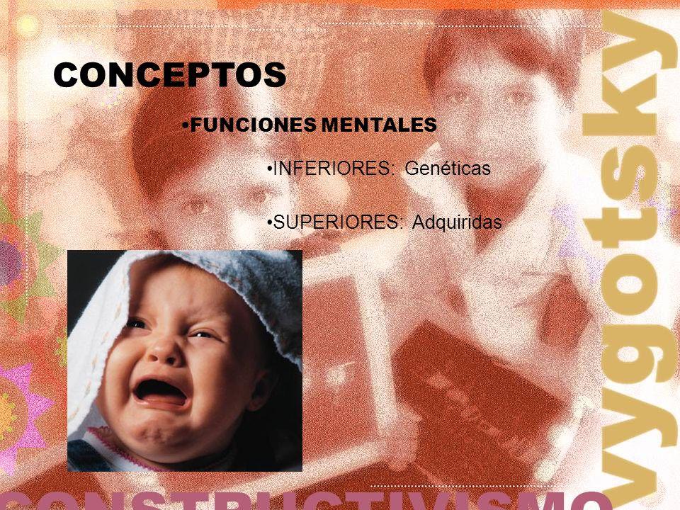 CONCEPTOS FUNCIONES MENTALES INFERIORES: Genéticas