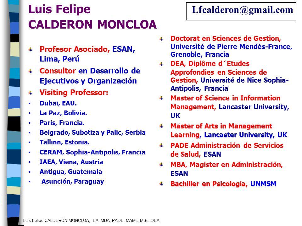 Luis Felipe CALDERON MONCLOA Lfcalderon@gmail.com