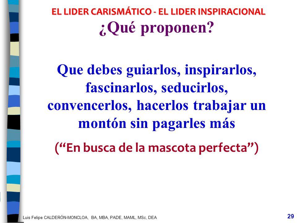 EL LIDER CARISMÁTICO - EL LIDER INSPIRACIONAL