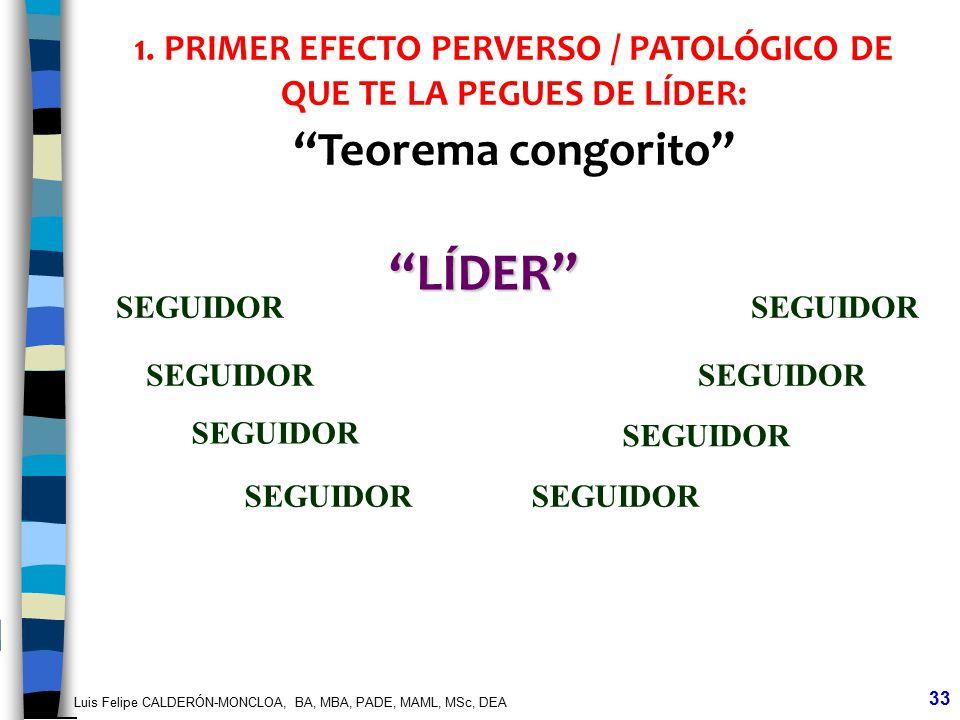 1. PRIMER EFECTO PERVERSO / PATOLÓGICO DE QUE TE LA PEGUES DE LÍDER: