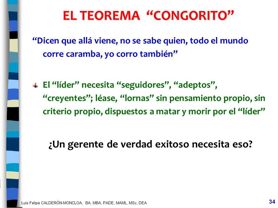 EL TEOREMA CONGORITO