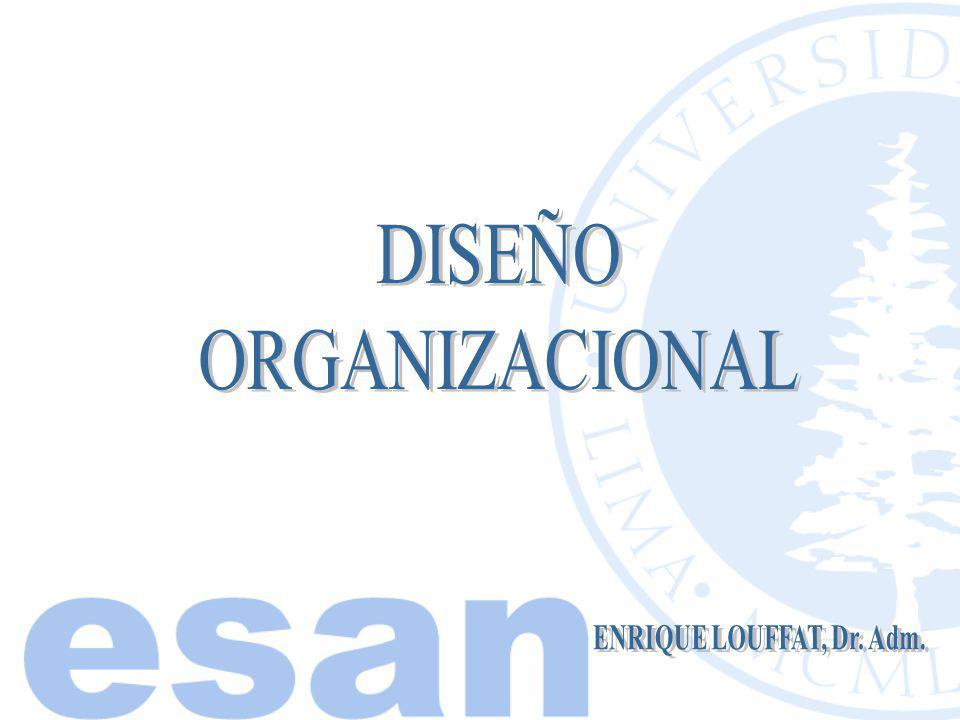 DISEÑO ORGANIZACIONAL ENRIQUE LOUFFAT, Dr. Adm.