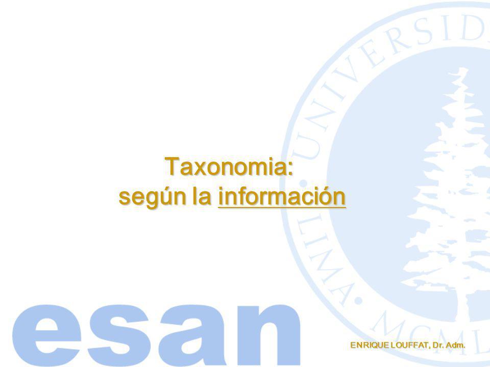 Taxonomia: según la información