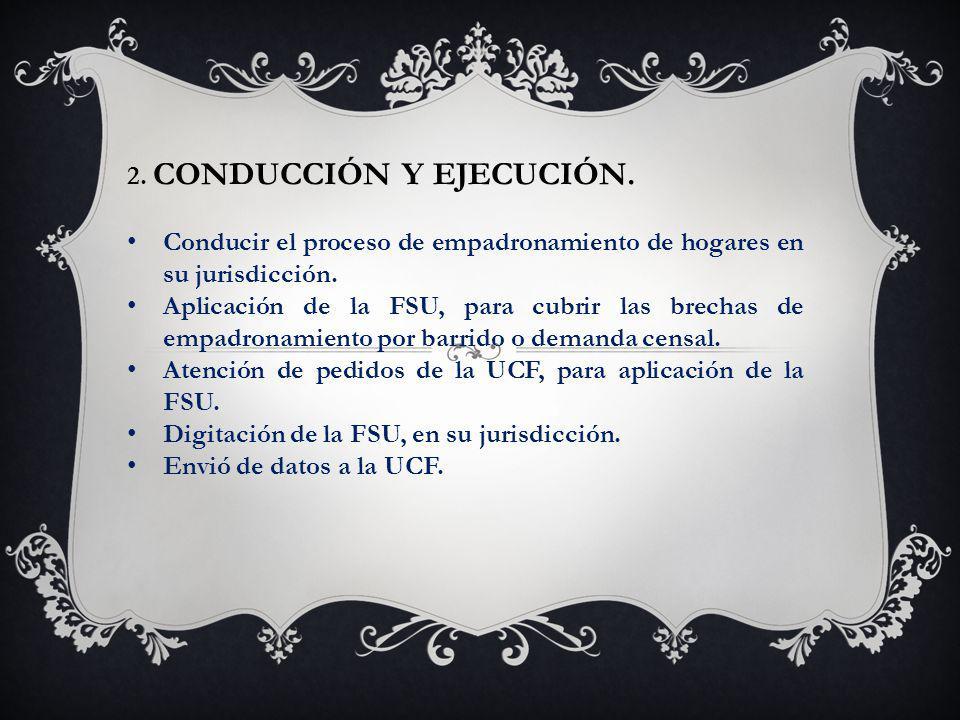 2. CONDUCCIÓN Y EJECUCIÓN.
