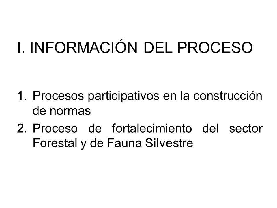 I. INFORMACIÓN DEL PROCESO
