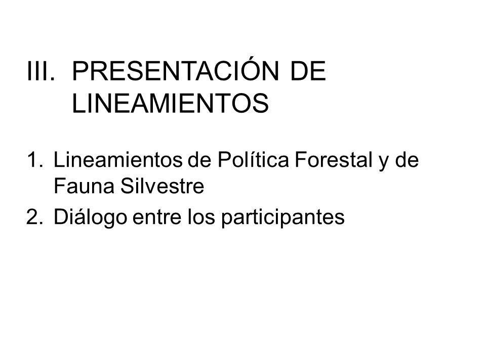 PRESENTACIÓN DE LINEAMIENTOS