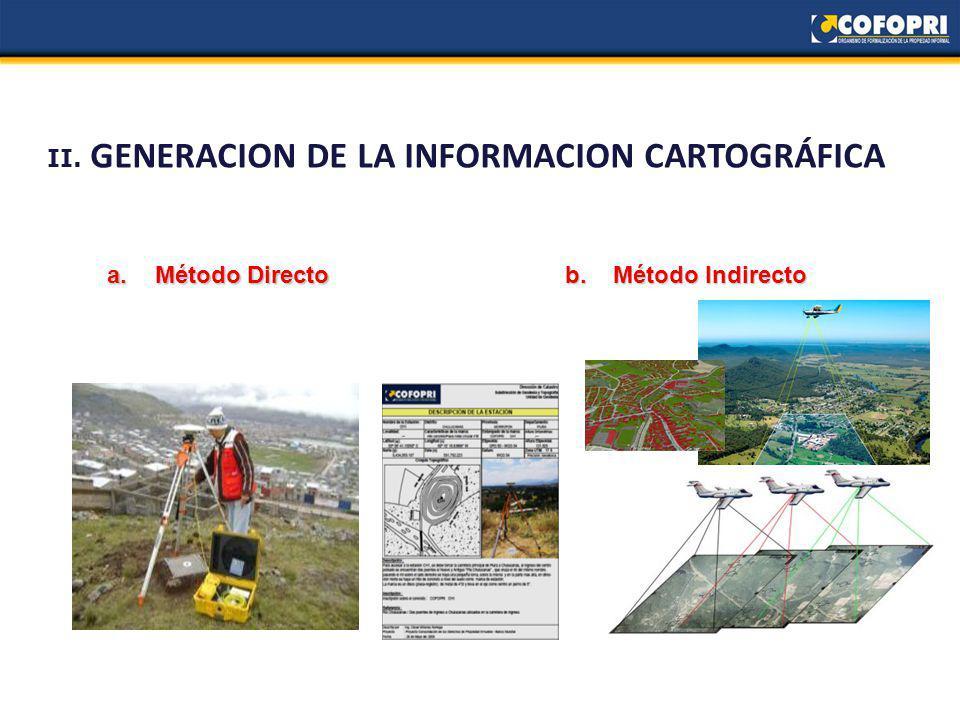 II. GENERACION DE LA INFORMACION CARTOGRÁFICA