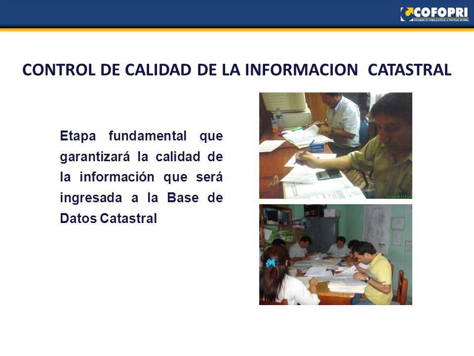 CONTROL DE CALIDAD DE LA INFORMACION CATASTRAL