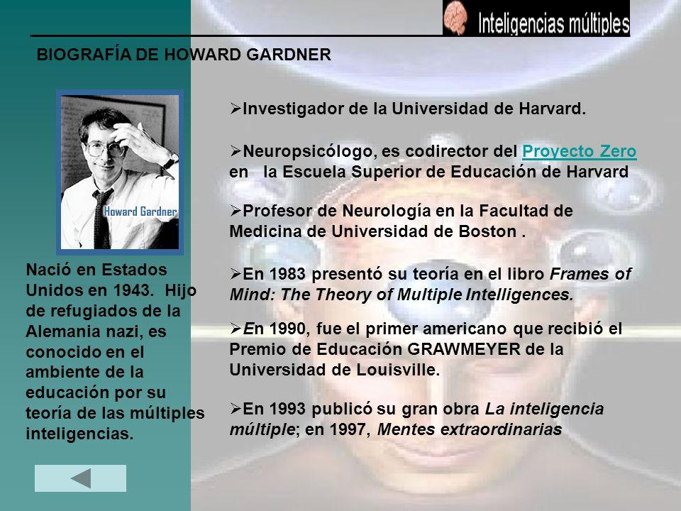 BIOGRAFÍA DE HOWARD GARDNER