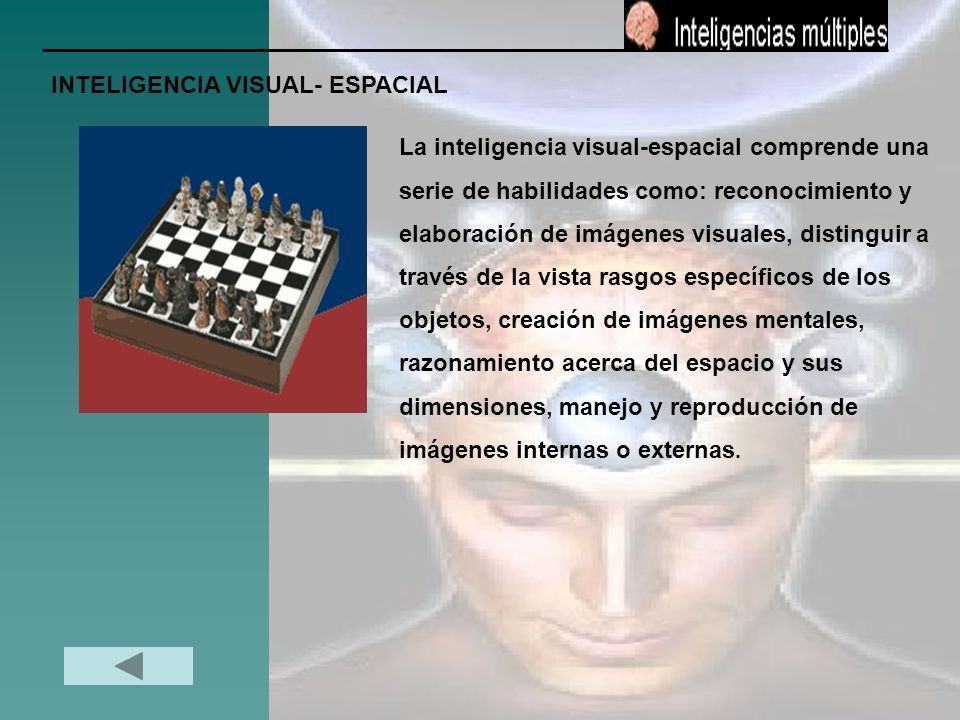 INTELIGENCIA VISUAL- ESPACIAL