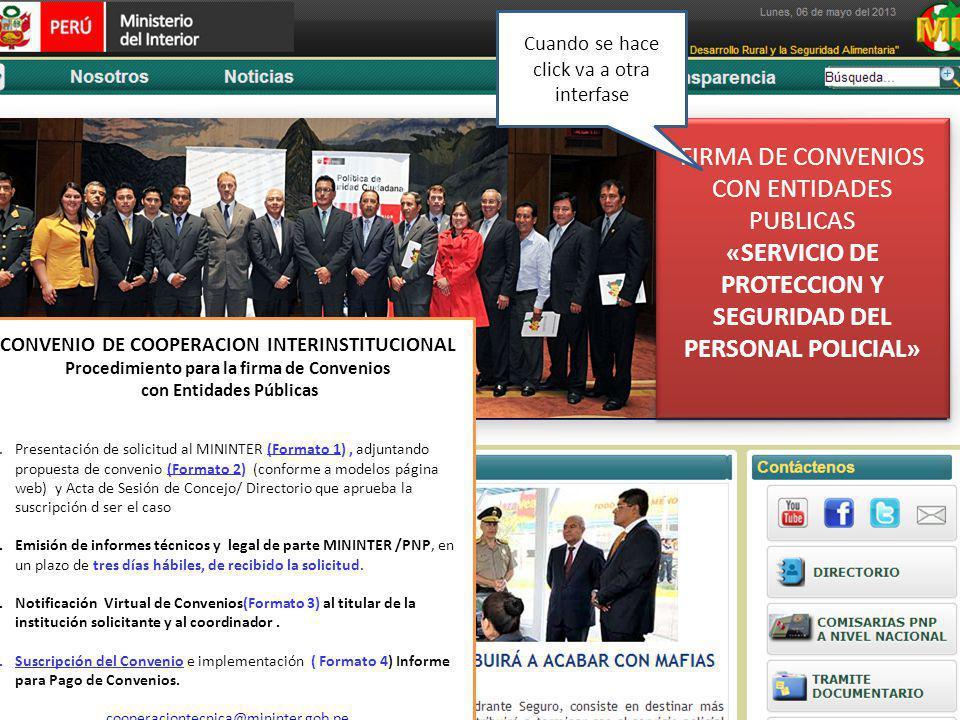 FIRMA DE CONVENIOS CON ENTIDADES PUBLICAS