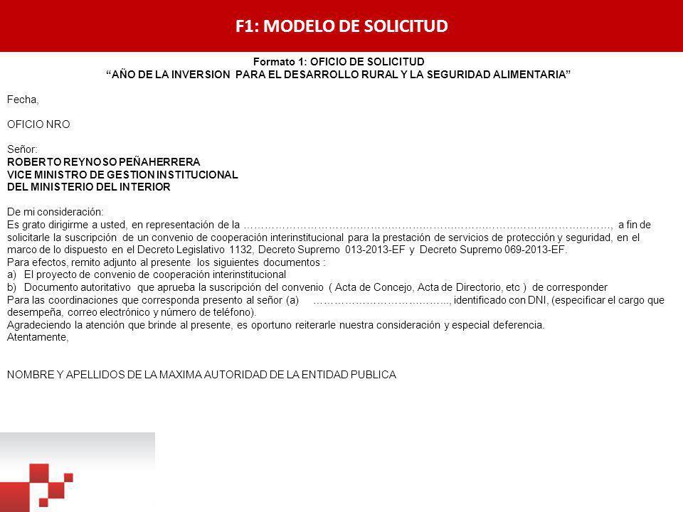 Formato 1: OFICIO DE SOLICITUD