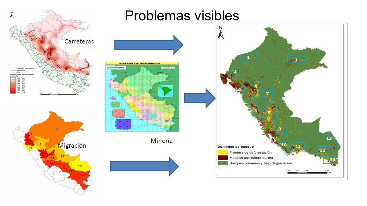 Problemas visibles Carreteras Minería Migración