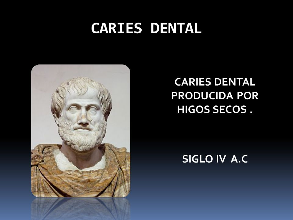 CARIES DENTAL PRODUCIDA POR HIGOS SECOS . SIGLO IV A.C