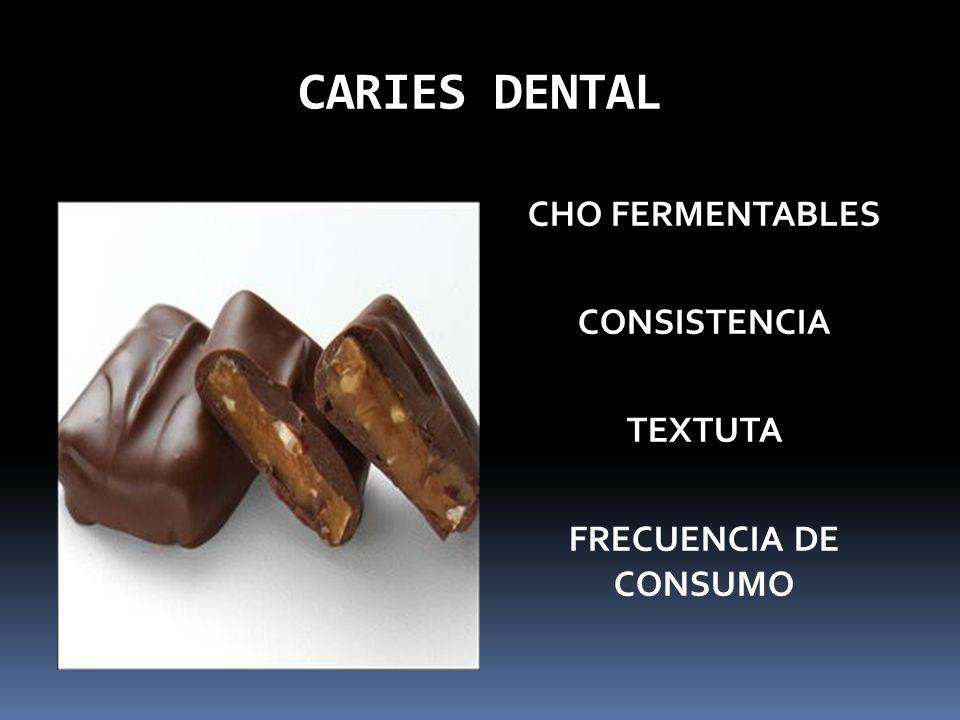 CHO FERMENTABLES CONSISTENCIA TEXTUTA FRECUENCIA DE CONSUMO