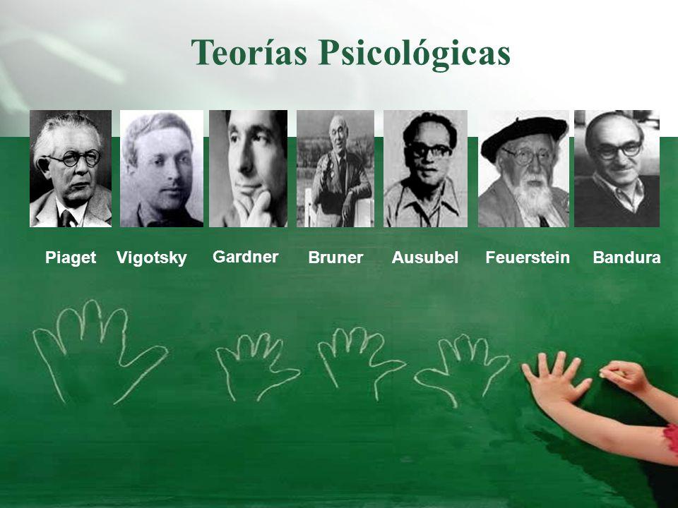 Teorías Psicológicas Piaget Vigotsky Gardner Bruner Ausubel Feuerstein