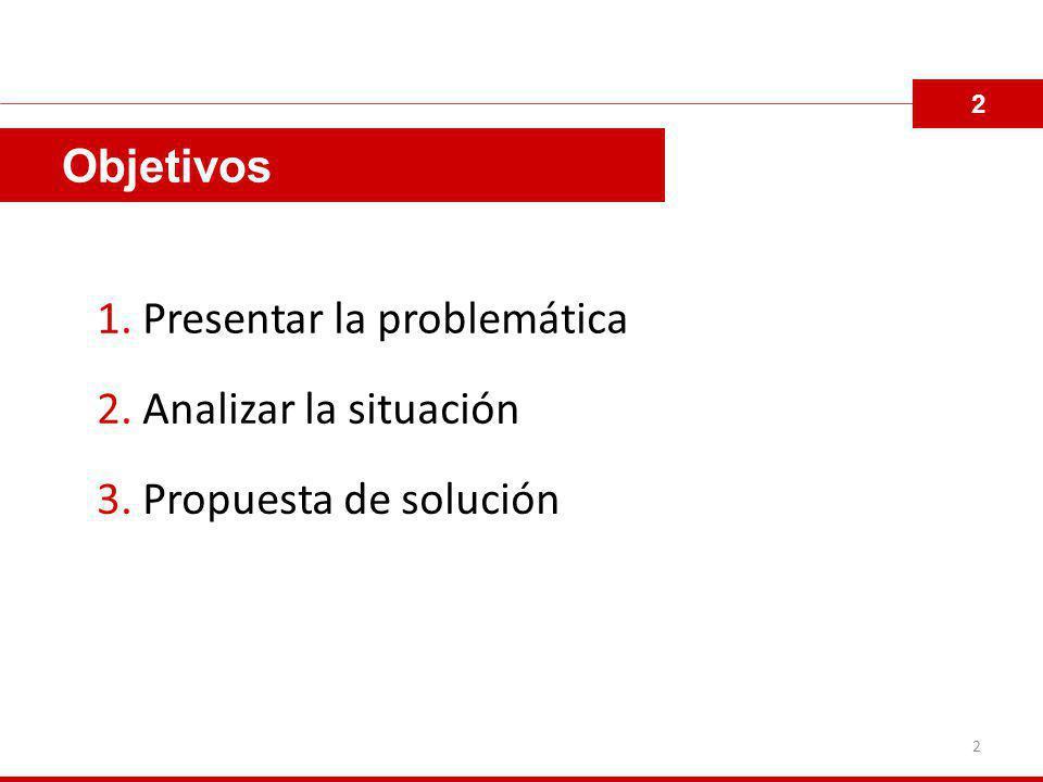 1. Presentar la problemática