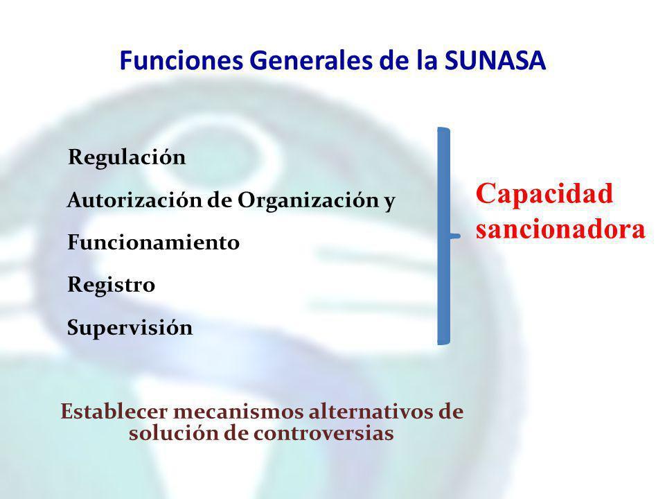 Funciones Generales de la SUNASA
