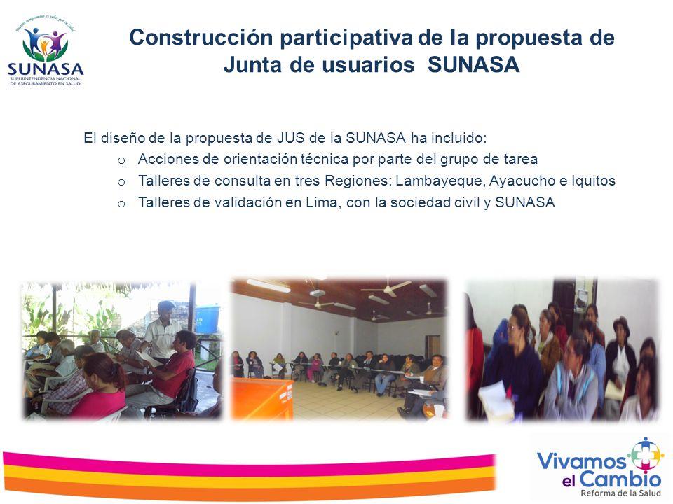 Construcción participativa de la propuesta de Junta de usuarios SUNASA
